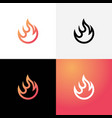 creative fire icon setflame symbol vector image