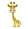 cute cartoon trendy design little giraffe with vector image vector image