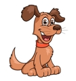 Cute smiling dog vector image vector image