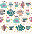 decorative tea time seamless pattern vector image