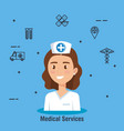 doctor character medical healthcare vector image vector image