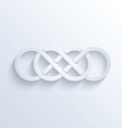 Double infinity sign with shadow vector image