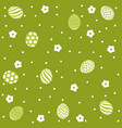 easter holiday green background vector image vector image