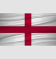 england flag flag of england blowig in the wind vector image