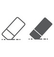 eraser line and glyph icon school and education vector image vector image