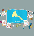 eriteria africa economy country growth nation vector image vector image