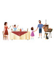 family holiday dinner cartoon concept vector image vector image