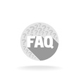 FAQ sign Flat colors with long shadow vector image vector image