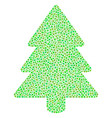 fir-tree composition of dots vector image