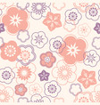 floral seamless pattern oriental flower chinese vector image vector image