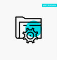 folder setting gear computing turquoise highlight vector image vector image