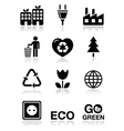 Green ecology icons set vector image vector image