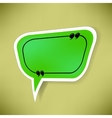 Green Paper Speech Bubble vector image vector image