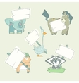 Hand-drawn cartoon collection of animals vector image vector image