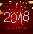 happy new year 2018 gold holiday party card vector image