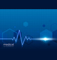healthcare medical background with heart beat line vector image vector image