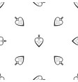 heart shaped pendant pattern seamless black vector image vector image