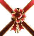 Holiday bow and ribbon vector image vector image
