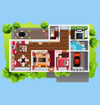 house architecture viewed from above vector image