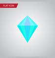 isolated carat flat icon gemstone element vector image vector image