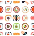 Japanese food sushi seamless pattern vector image vector image