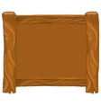 Light brown wooden frame on white background vector image vector image