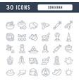 line icons songkran vector image
