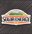 logo for solar energy vector image vector image