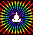 man sitting in pose lotus meditating on starry vector image vector image