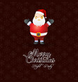 merry christmas santa claus background vector image