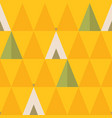 minimal seamless pattern with trees and wigwams vector image