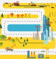 Modern city flat design vector image vector image