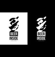 modern craft beer drink isolated logo sign for vector image vector image