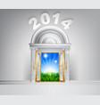new year hope door concept 2014 vector image