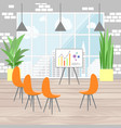 office interior in flat design infographic vector image