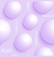 pattern with 3 d balls vector image vector image