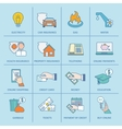 Pay Bill Icons Flat Line vector image vector image
