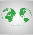 pixelated earth vector image
