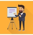 Presentation Concept In Flat Style Design vector image vector image