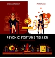 Psychic Fortune Teller Concept vector image