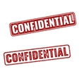 Realistic Confidential grunge rubber stamps vector image vector image