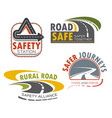road highway sign for transportation theme design vector image