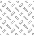 seamless pattern with pencil eraser line icons vector image