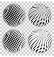 set of 3d halftone dots spheres disco ball vector image