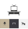 set of 4 editable interior icons includes symbols vector image