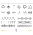 Set of geometric hipster shapes11d vector image vector image
