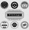 set of vintage logos vector image