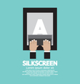 Silkscreening With Squeegee vector image