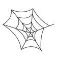 spiderweb icon outline style vector image