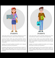 students posters collection vector image vector image